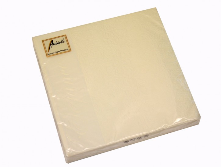 Servietten Elegance cream 40x40