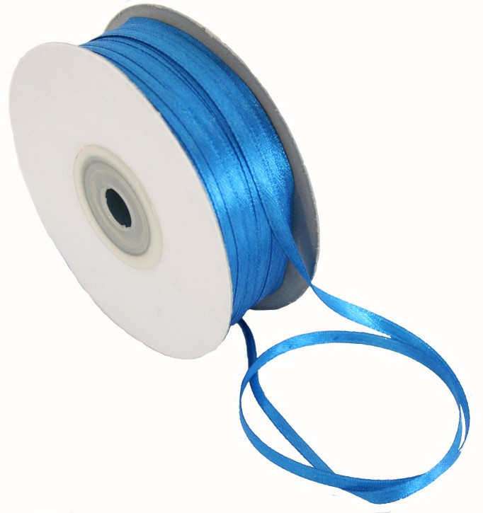 Satinband 3mm blau