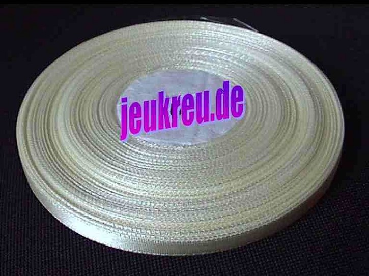 Satinband creme 6 mm