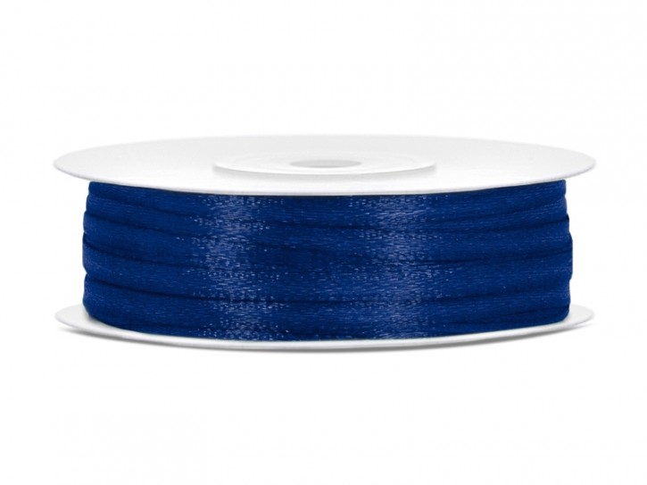 Satinband 3mm marineblau