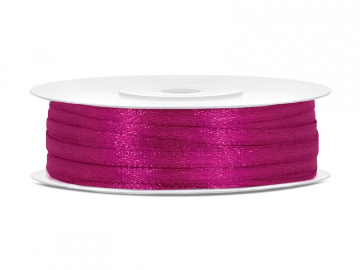 Satinband fuchsia 3 mm 50m