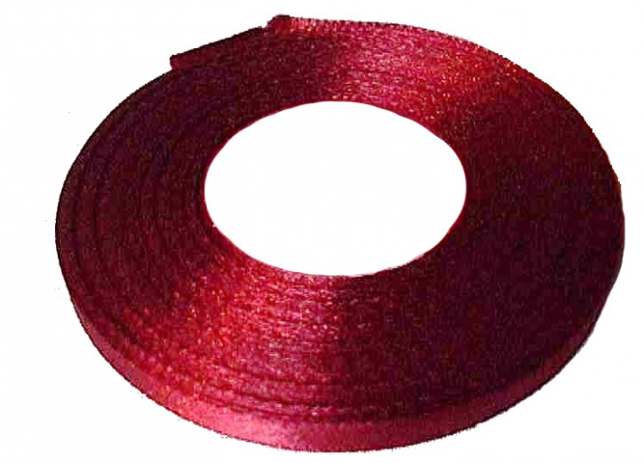 Satinband bordeaux 6mm